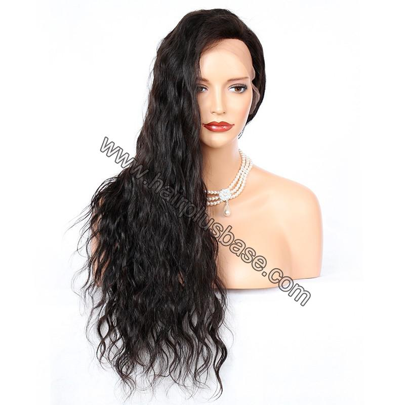 Silk Base 4*4 Lace Front Wigs Indian Human Hair Loose Wave 4