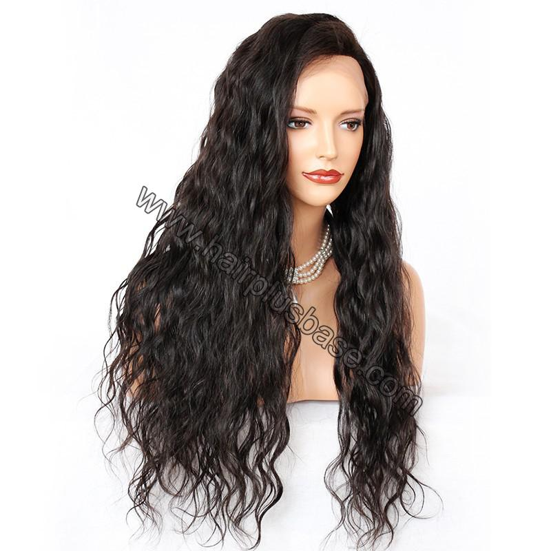 Silk Base 4*4 Lace Front Wigs Indian Human Hair Loose Wave 5