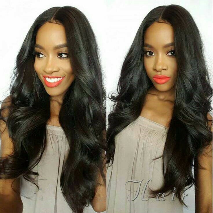 Silk Base 4*4 Lace Front Wigs Indian Remy Hair Body Wave