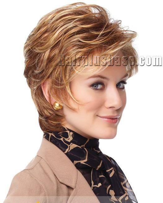 Silk Top Cheap Human Hair Brown Short Wigs