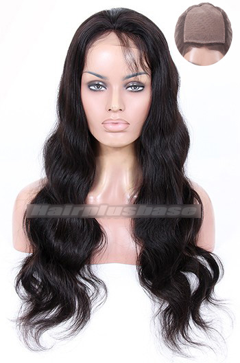 Pretty Glamour Body Wave Indian Remy Hair Silk Top Full Lace Wigs