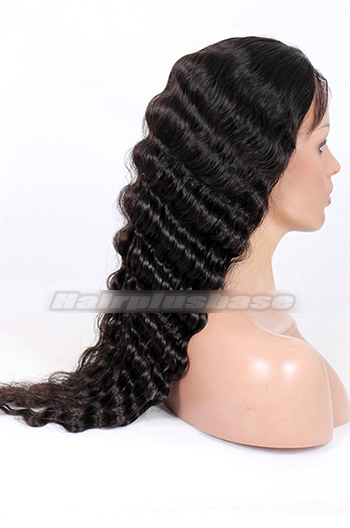 24inches natural color 120% normal wig density