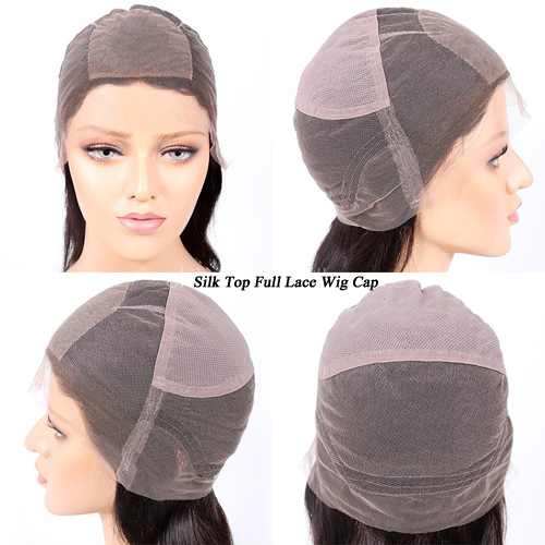 silk top full lace wig cap inside