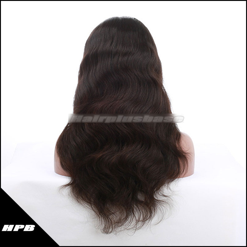 Indian Remy Hair Natural Wave Silk Top Full Lace Wigs