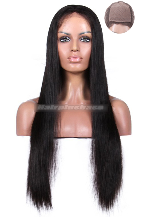 Silk Top Full Lace Wigs Silky Straight Indian Remy Hair