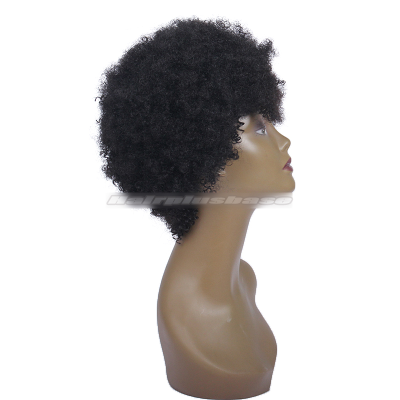 Solange Knowles Inspired Kinky Curly Glueless Human Hair Wigs