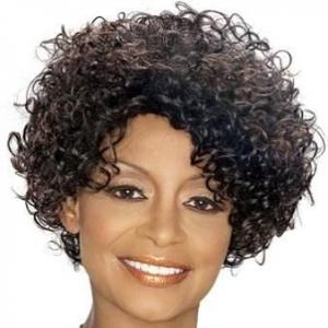 Special Cool Short Wavy Gray African American Lace Wigs for Women