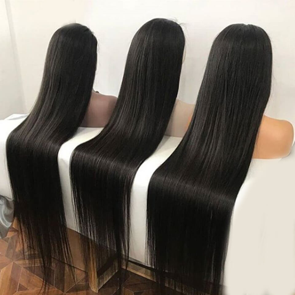 Straight 13*6 Lace Front Wigs 24-40 Inch 150%-250% Density With 6' Deep Part 2
