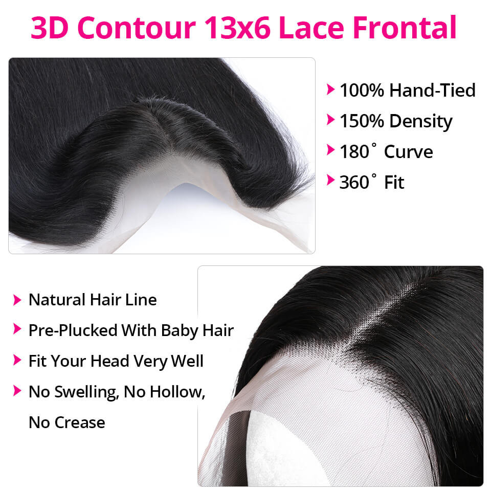 Straight 13*6 Lace Front Wigs 24-40 Inch 150%-250% Density With 6' Deep Part 4
