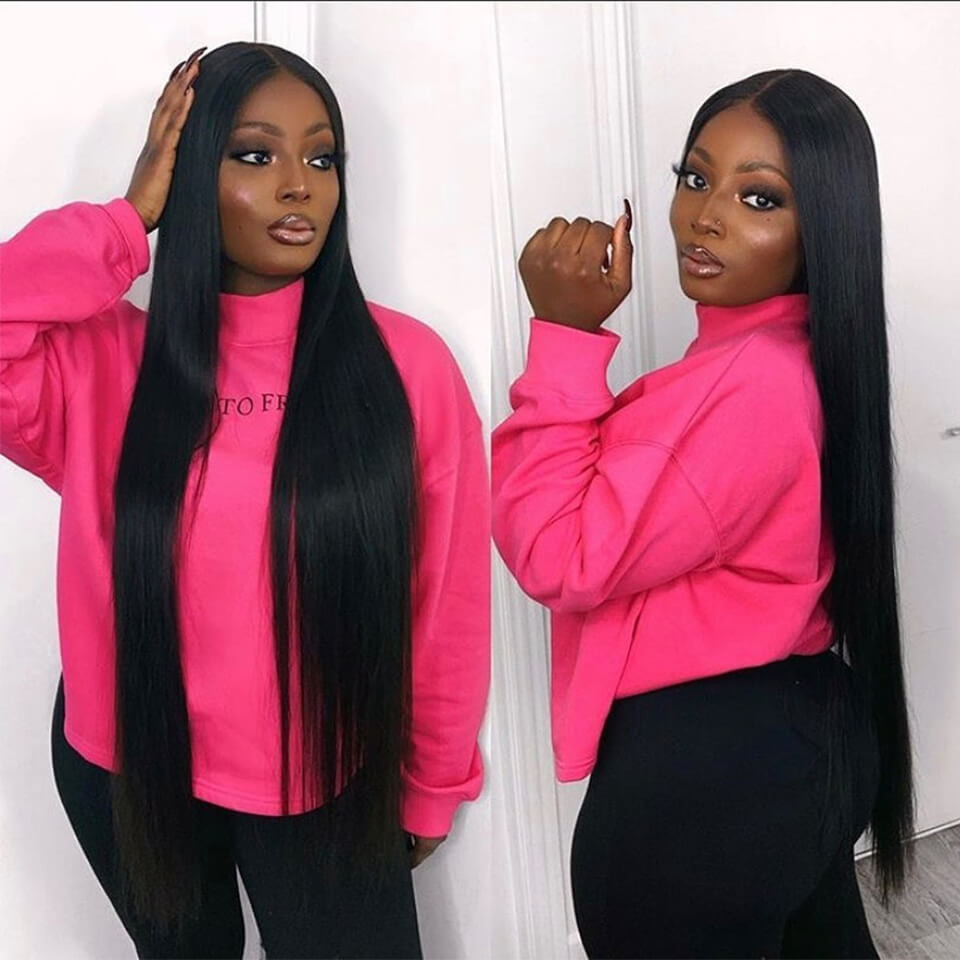Straight 13*6 Lace Front Wigs 24-40 Inch 150%-250% Density With 6' Deep Part 7
