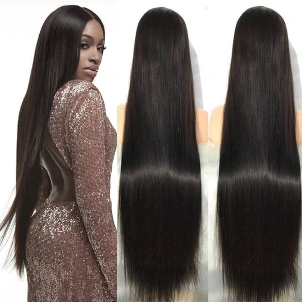Straight 13*6 Lace Front Wigs 24-40 Inch 150%-250% Density With 6' Deep Part 9