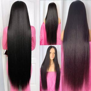 Straight 24-40 Inch Long Lace Front Wigs 150%-250% Density