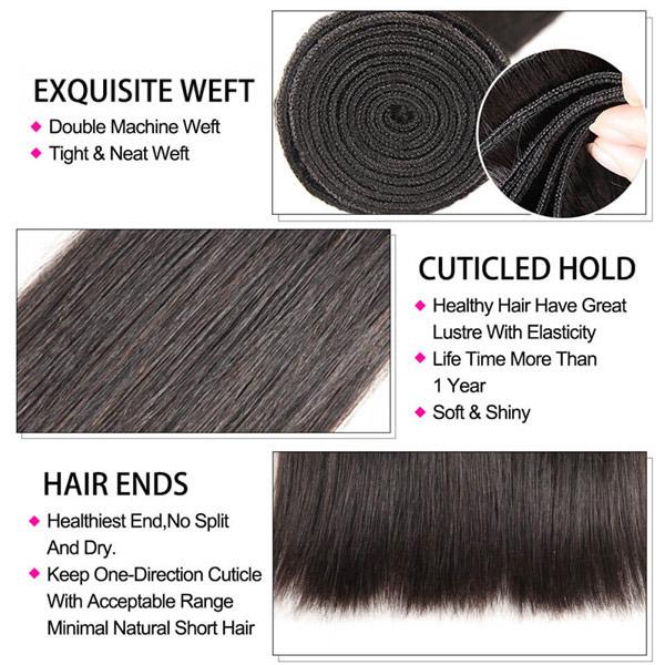 Straight Hair Weave 1 Bundle Deal Human Hair 8-40 Inch 3