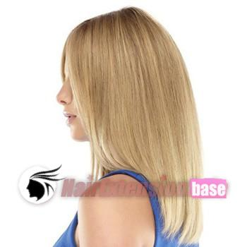 Straight Medium Synthetic Hair Wigs #24 Ash Blonde no 2
