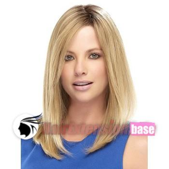 Straight Medium Synthetic Hair Wigs #24 Ash Blonde no 3