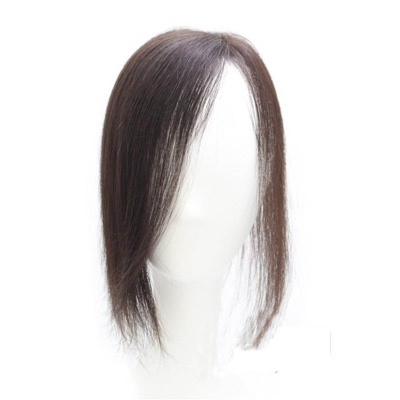 Straight Toupee Hairpiece 100% Human Hair Wig 25g