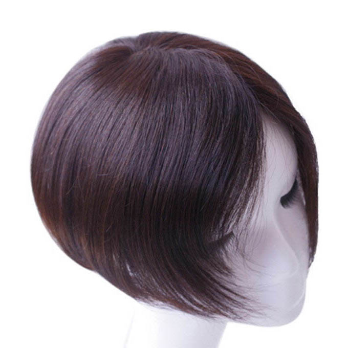 Straight Toupee Hairpiece 100% Human Hair Wigs 14*16/13*14CM