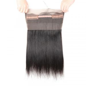 Straight Virgin Hair 360 Lace Frontals Natural Straight Hair