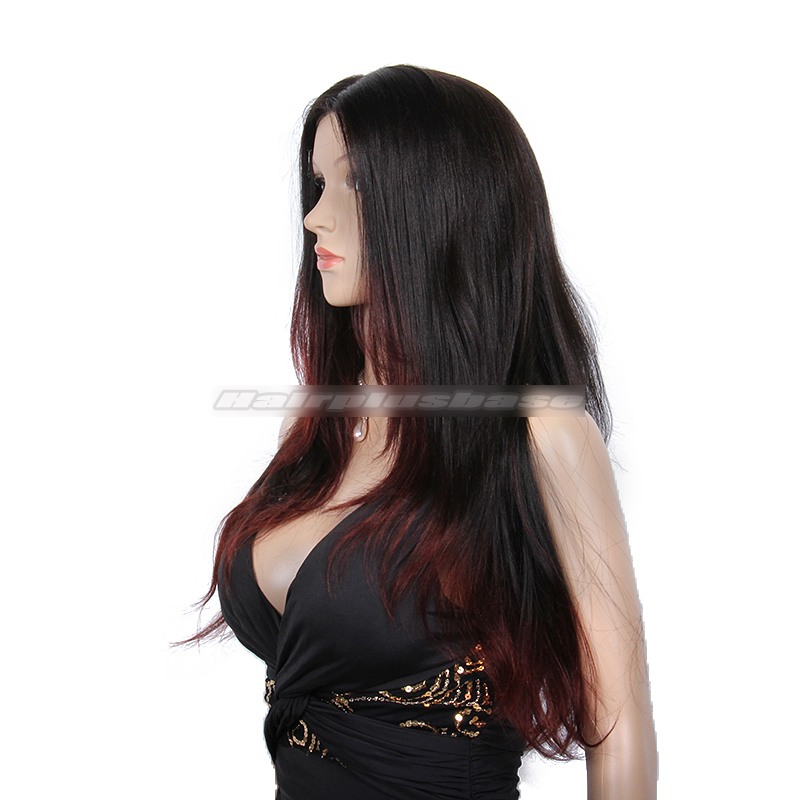 Stunning Hairstyle Black Hair With Red Highlights Glueless Lace Front  WigsStunning Hairstyle For Black Hair With Res Highlights Glueless Lace Front  Wigs