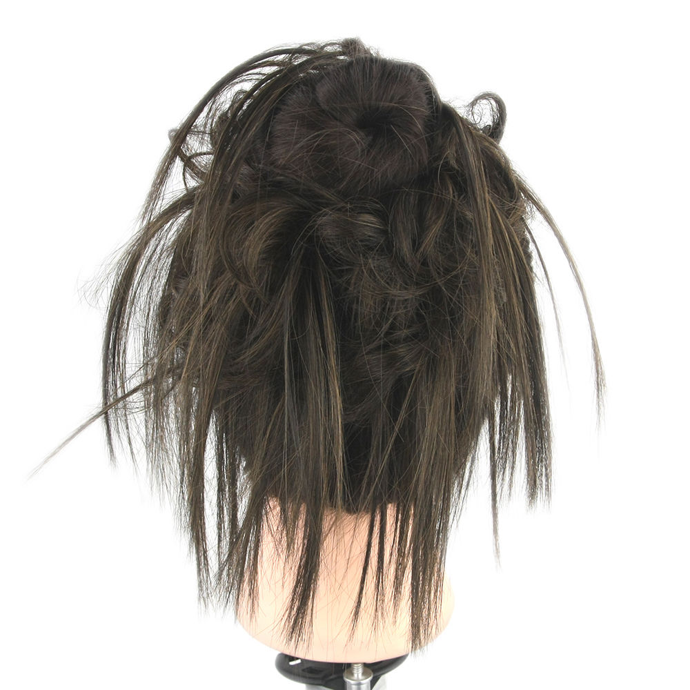 Synthetic Hair Flexible Scrunchie Bun Wrap Hair Chignon Ponytail  Body Wave 1