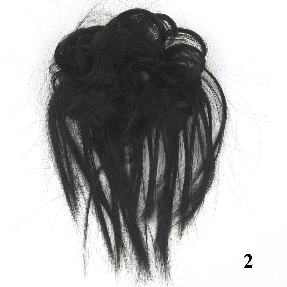 Synthetic Hair Flexible Scrunchie Bun Wrap Hair Chignon Ponytail  Body Wave 18