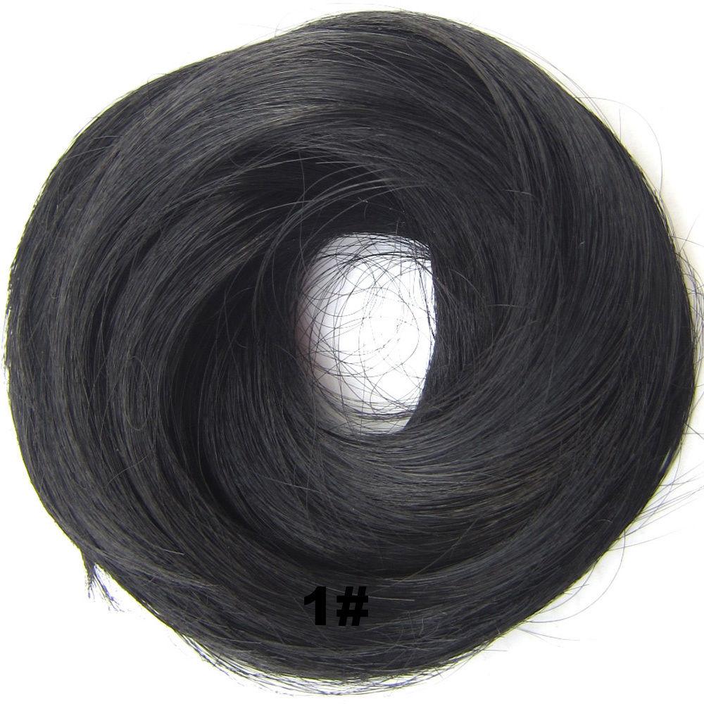 Synthetic Hair Flexible Scrunchie Wrap Hair Bun Ponytail Extensions Straight 1