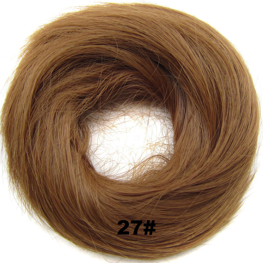 Synthetic Hair Flexible Scrunchie Wrap Hair Bun Ponytail Extensions Straight 14