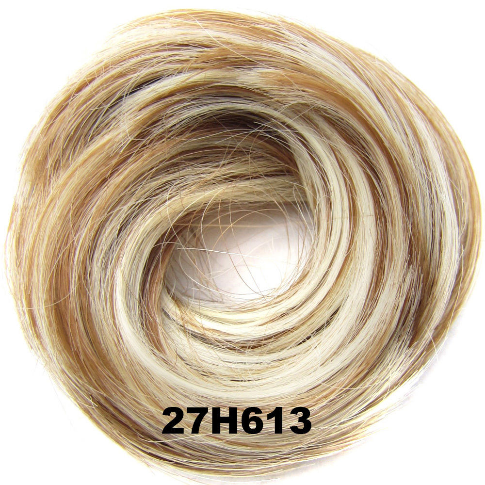 Synthetic Hair Flexible Scrunchie Wrap Hair Bun Ponytail Extensions Straight 15