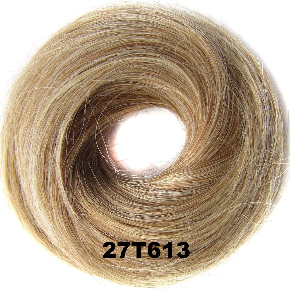 Synthetic Hair Flexible Scrunchie Wrap Hair Bun Ponytail Extensions Straight 16