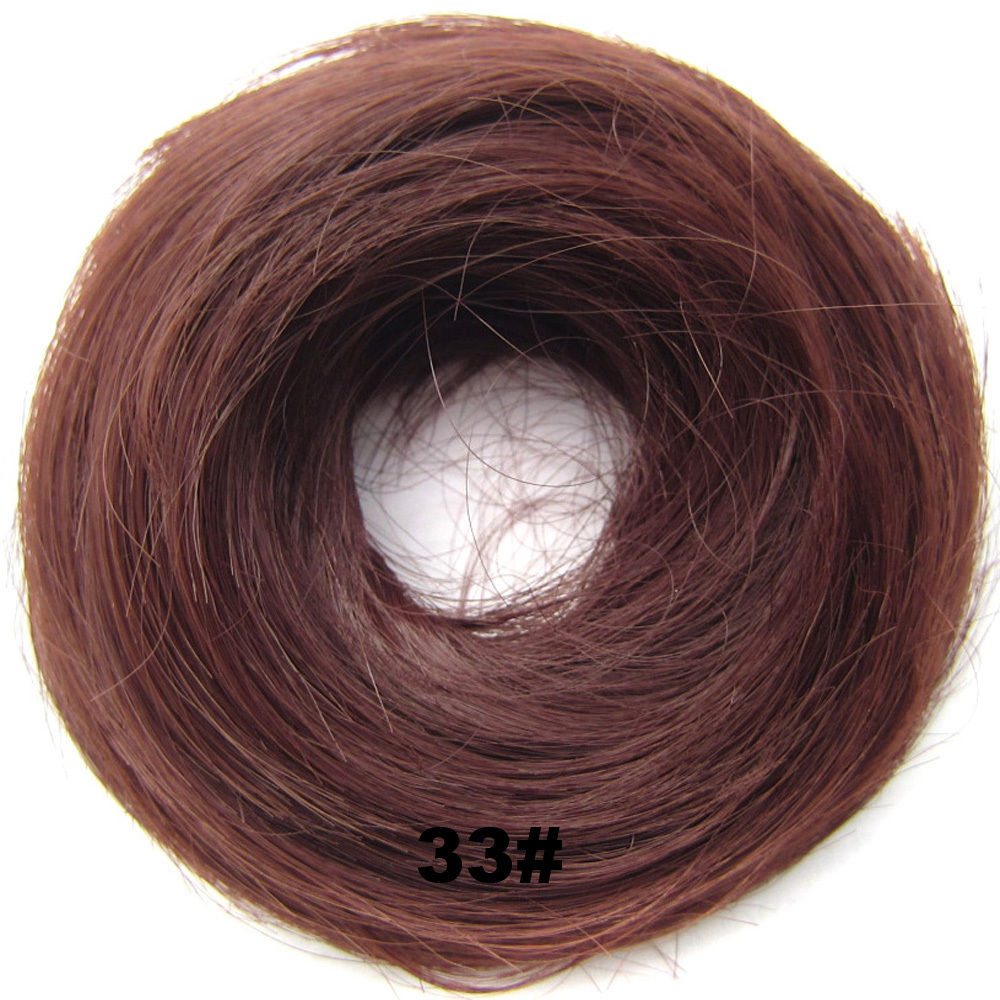 Synthetic Hair Flexible Scrunchie Wrap Hair Bun Ponytail Extensions Straight 18