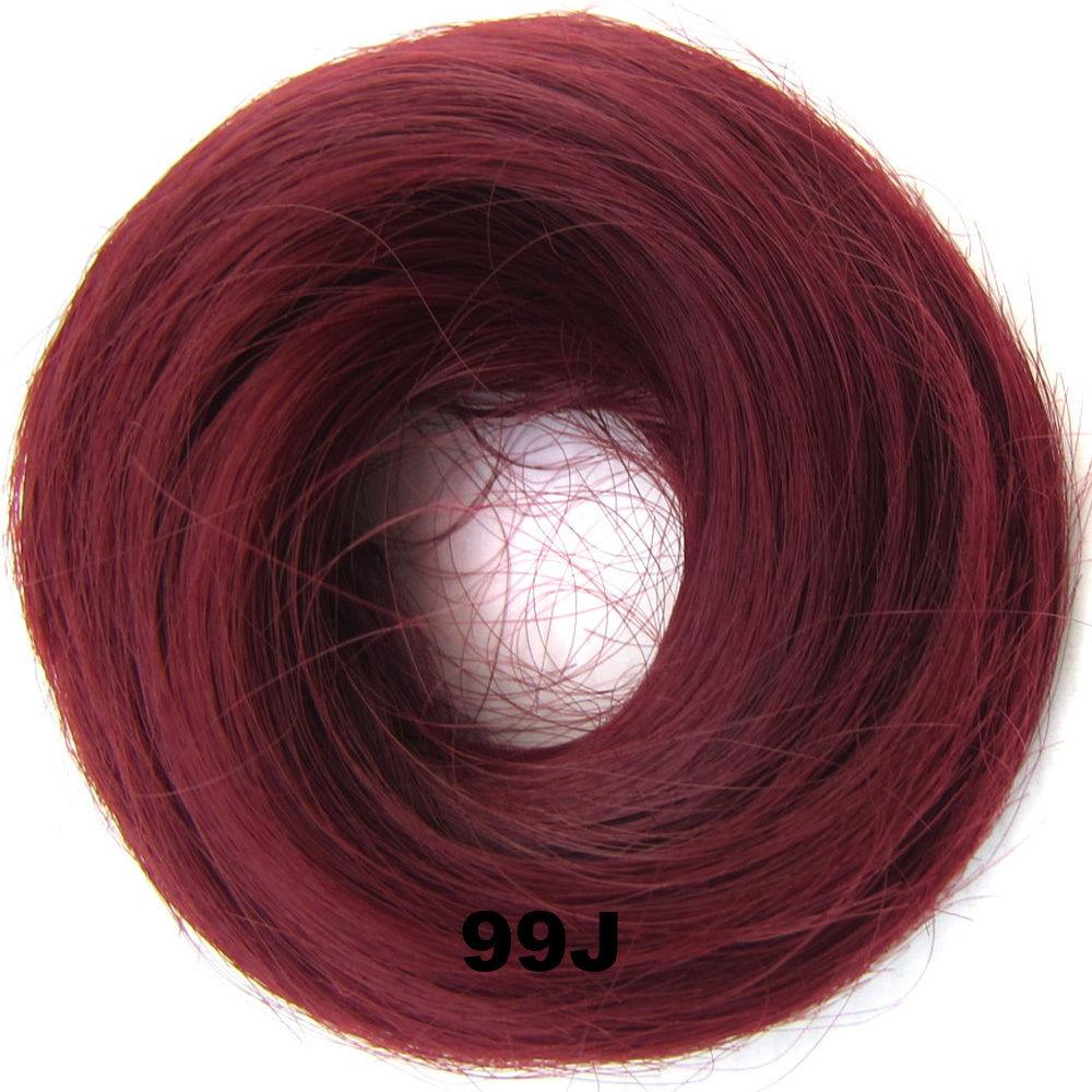 Synthetic Hair Flexible Scrunchie Wrap Hair Bun Ponytail Extensions Straight 19