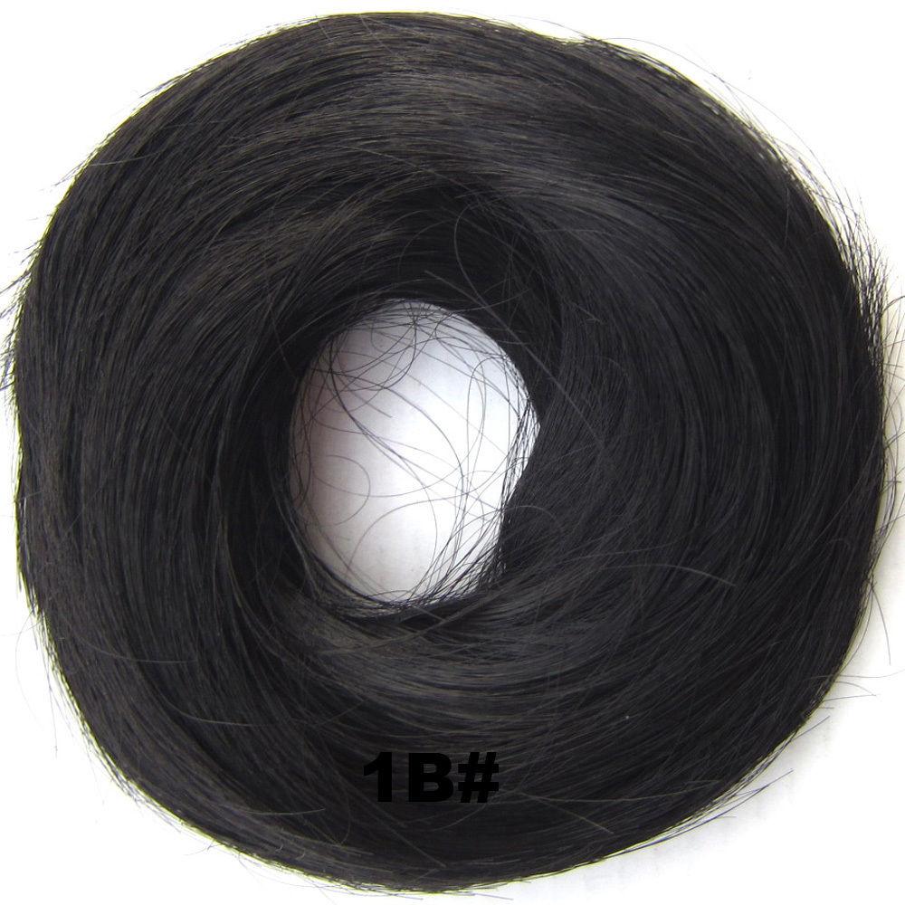 Synthetic Hair Flexible Scrunchie Wrap Hair Bun Ponytail Extensions Straight 2