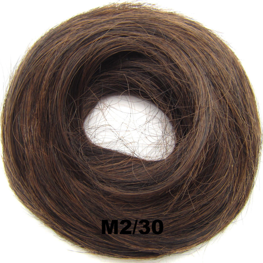 Synthetic Hair Flexible Scrunchie Wrap Hair Bun Ponytail Extensions Straight 22
