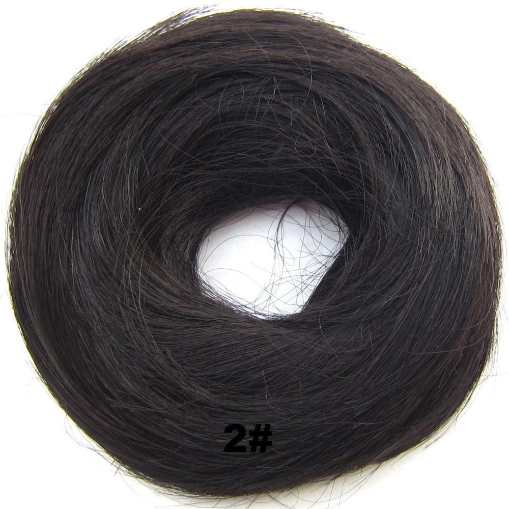 Synthetic Hair Flexible Scrunchie Wrap Hair Bun Ponytail Extensions Straight 3
