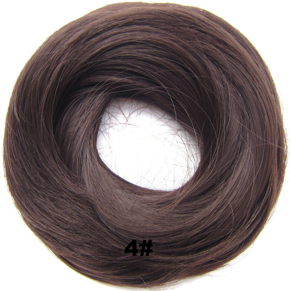 Synthetic Hair Flexible Scrunchie Wrap Hair Bun Ponytail Extensions Straight 4