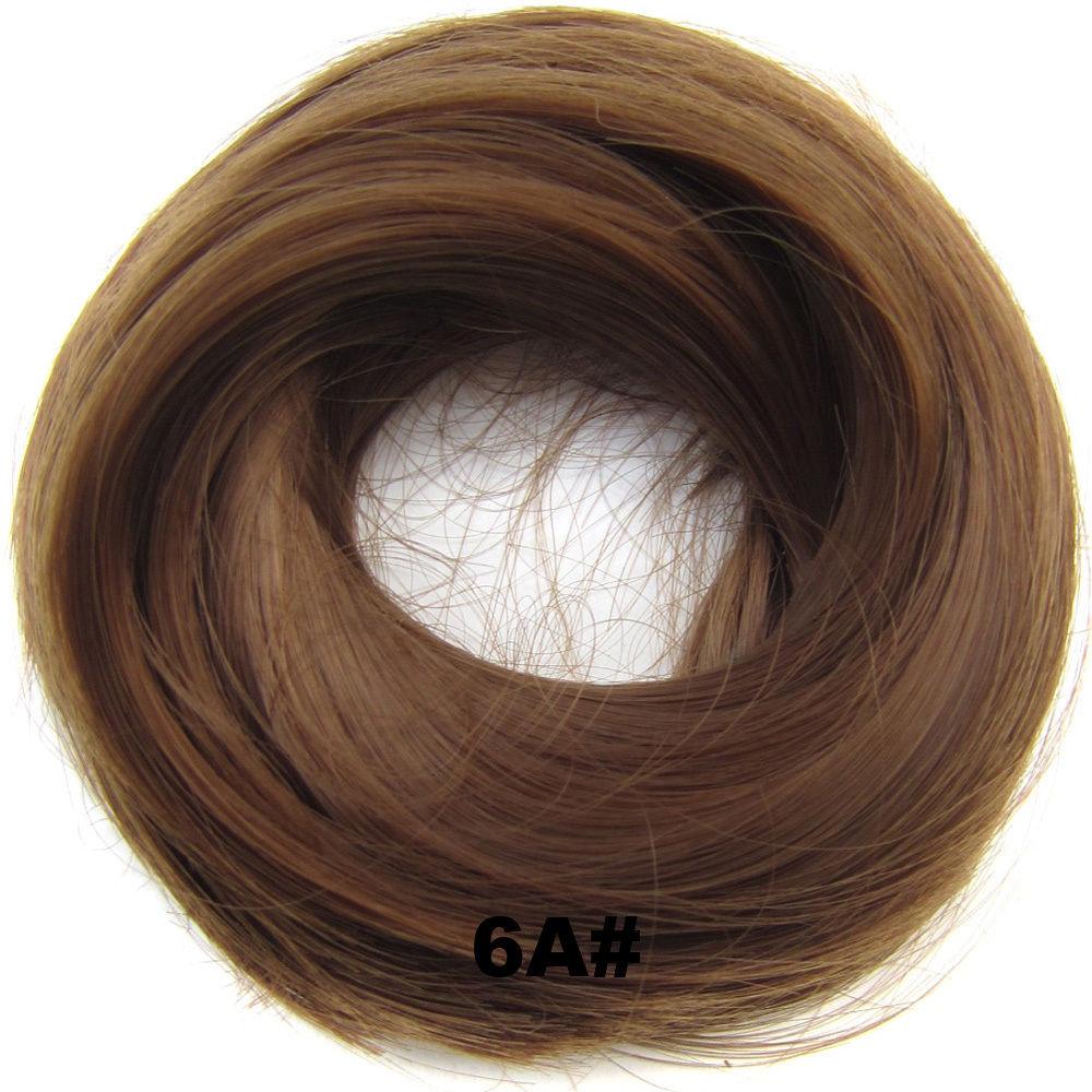 Synthetic Hair Flexible Scrunchie Wrap Hair Bun Ponytail Extensions Straight 5