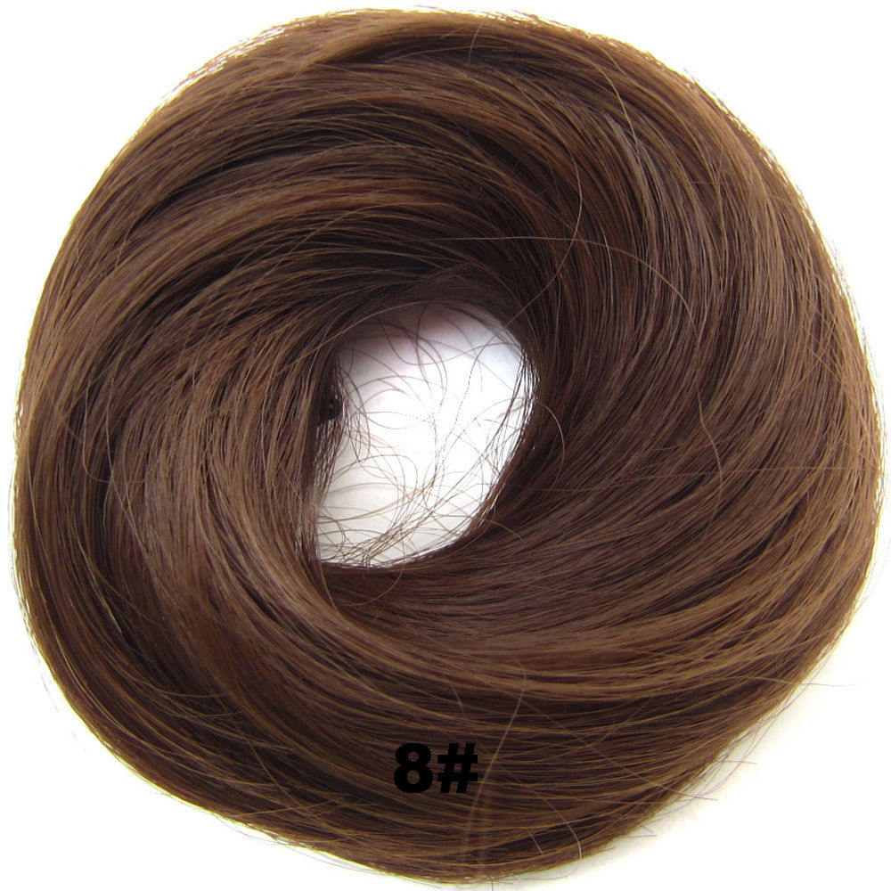 Synthetic Hair Flexible Scrunchie Wrap Hair Bun Ponytail Extensions Straight 7