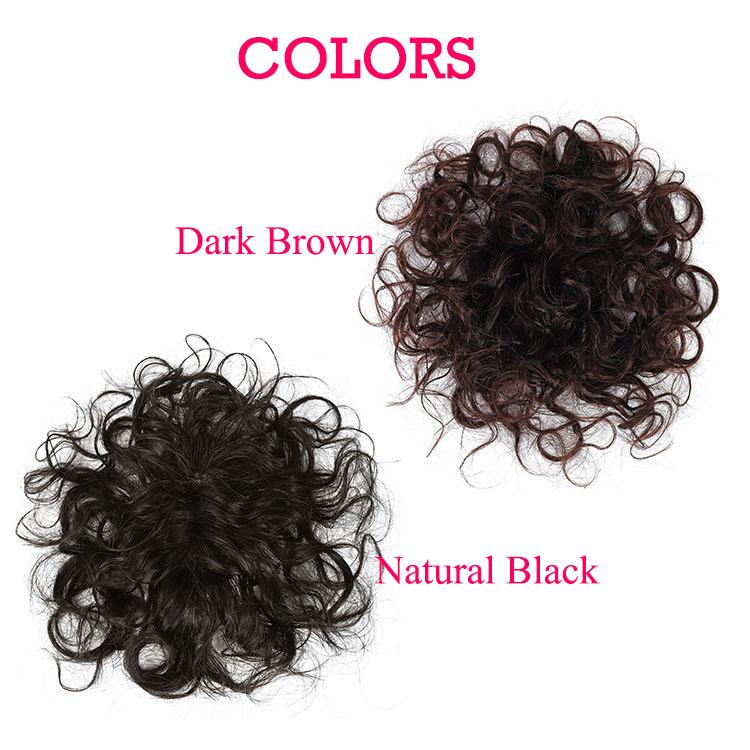 The New Short Hair In The Elderly Short Hair Curly Hair Top Hairpiece 100% Human Hair Wigs 6