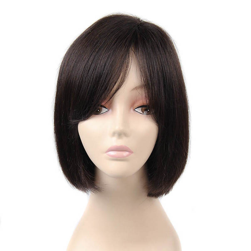 The Whole Hand Woven Top Human Hair Wigs Human Hair Wig Bobo Head Lady In The Long Hair 0