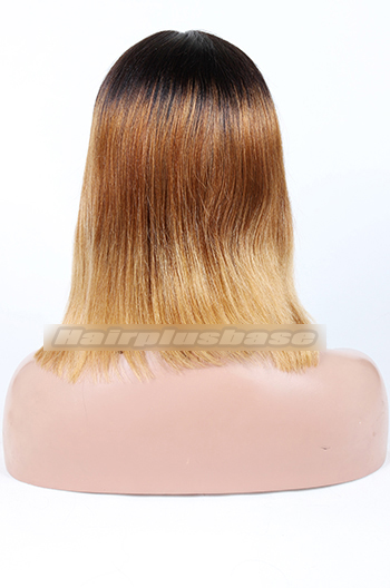 Indian Remy Hair Three Toned Ombre Middle Part Bob Yaki Straight Glueless Lace Part WigsIndian Remy Hair Three Toned Ombre Middle Part Bob Yaki Straight Glueless Lace Part Wigs