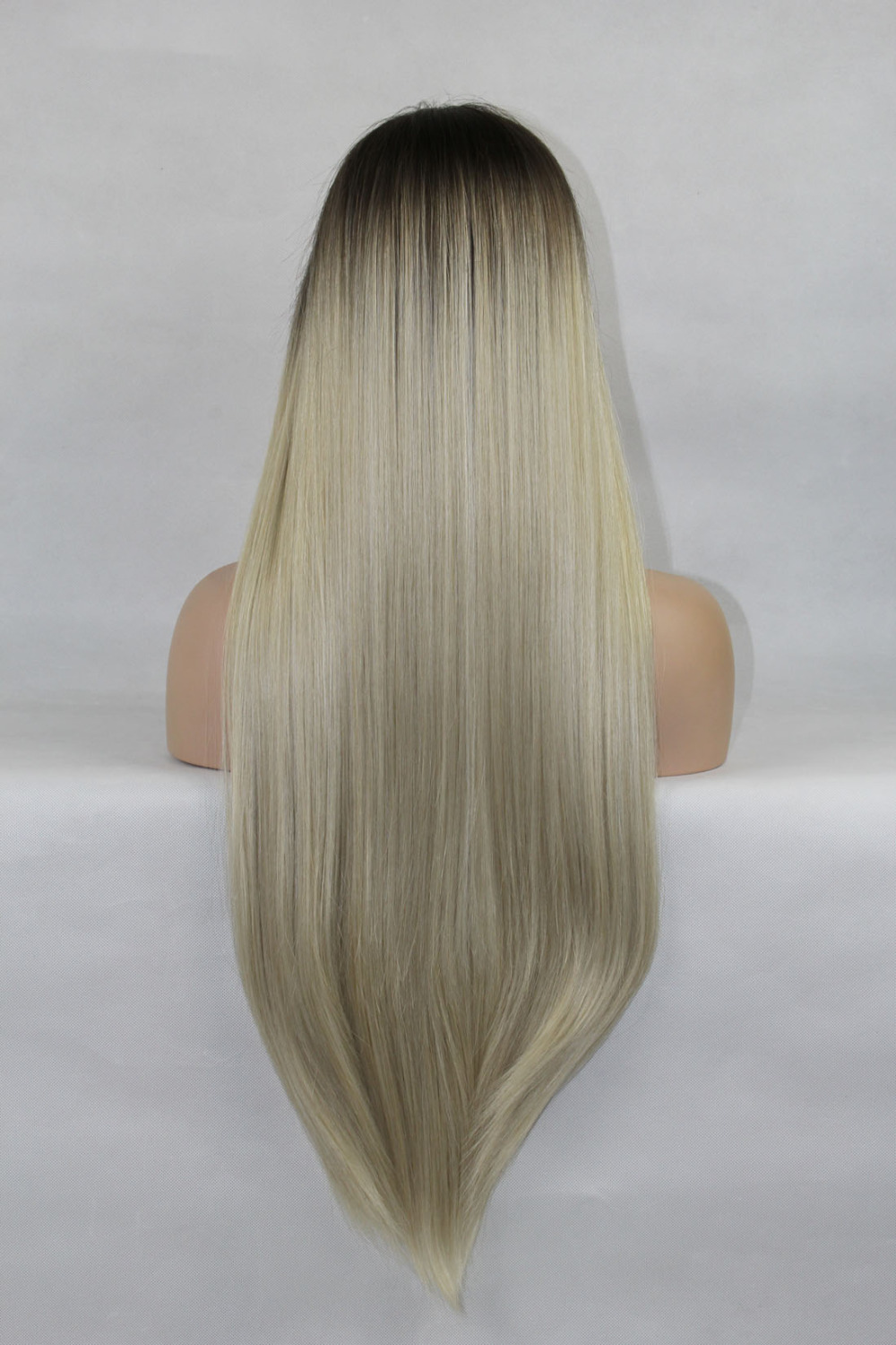 Trendy Silky Straight Ombre Lace Front Wig 2