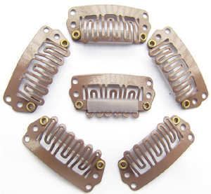 U-insection 2.8cm Light Brown Steel Hair Extension Clips 20pcs