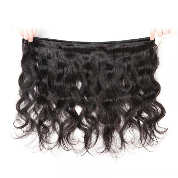 Virgin Brazilian Hair 3 Bundles Body Wave Weave Hairstyles 4