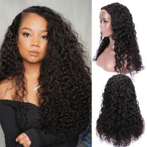 Water Wave Transparent Human Hair Lace Front Wigs With Baby Hair For Black Women