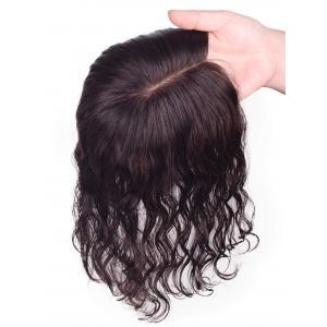 """Wavy Remy Human Hair Hand Made Tied 3"""" x 5"""" Silk Top Hair Topper For Hair Loss Thin Hair"""