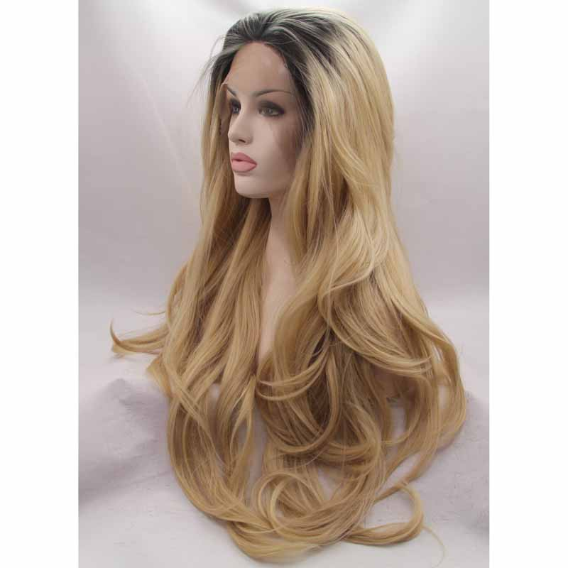 Wholesale Body Wave Blonde Ombre Front Lace Wig 1