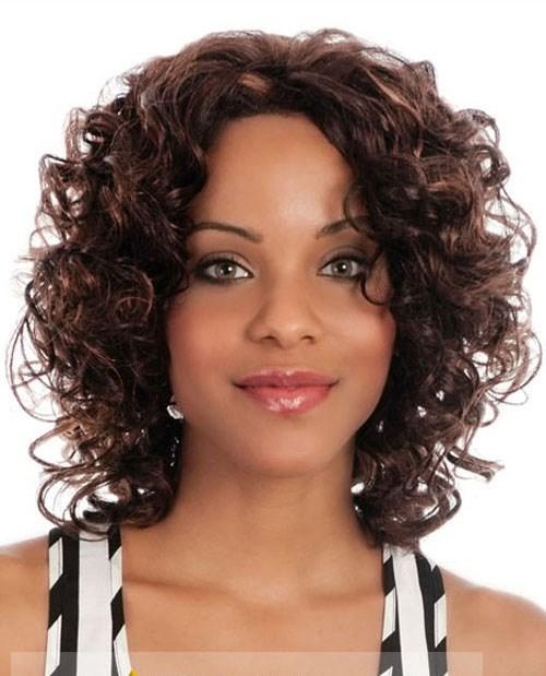 Wigs For Sale Short Wavy Brown African American Lace Wigs