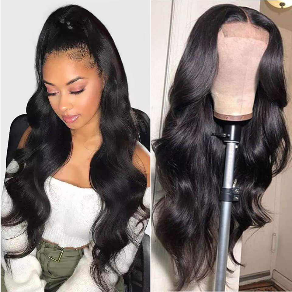 Yolissa Hair Body Wave 6*6 Lace Closure Wigs 180% 250% Density With Baby Hair 2