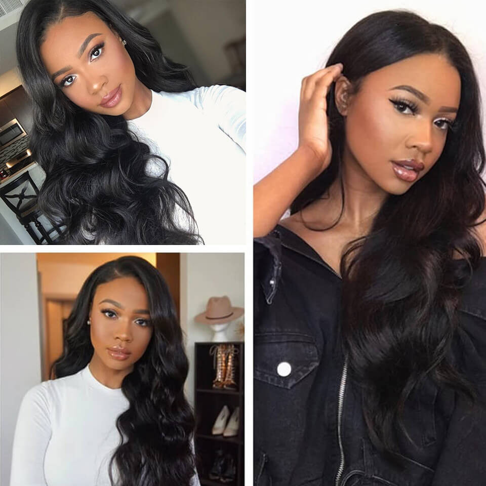 Yolissa Hair Body Wave 6*6 Lace Closure Wigs 180% 250% Density With Baby Hair 7