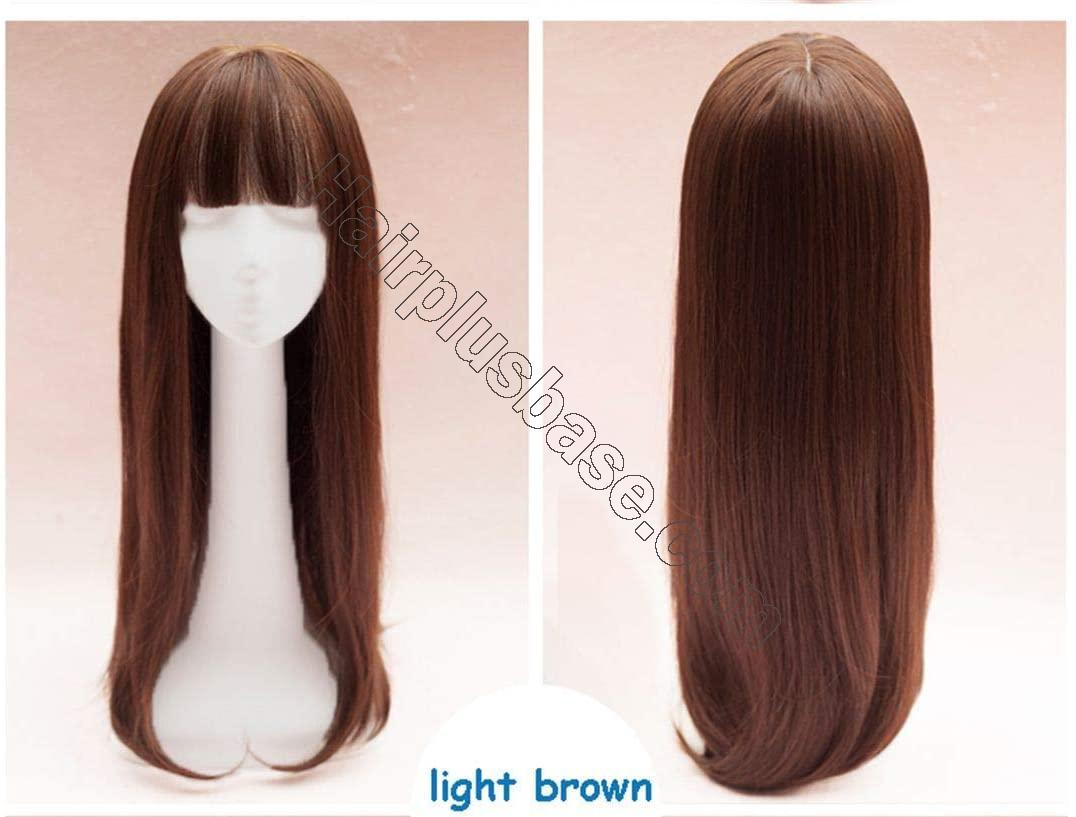 ZHAS 26 Inch Straight Clip in Thicken Crown Hairpiece with Bangs Hair Topper for Women, Thick Style 2